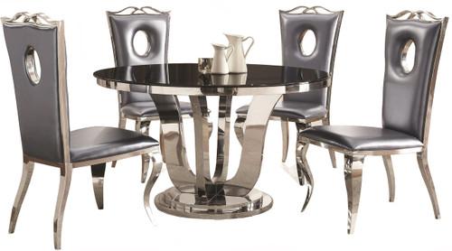 Minerva Chrome 5-PC Dining Set