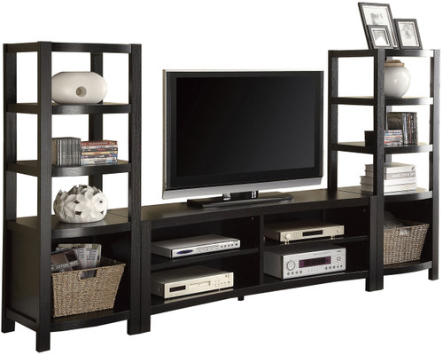 Glen Cappuccino 3 PC Curved Wall Unit