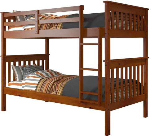 Derik Medium Brown Twin Bunk Bed