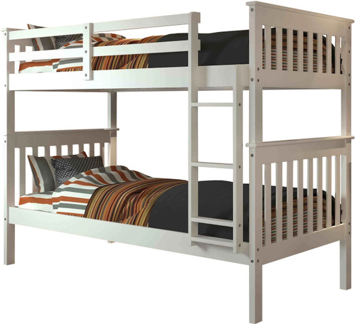 Derik White Twin Bunk Bed