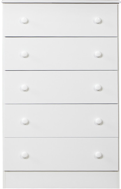 Coepto White 5 Drawer Chest