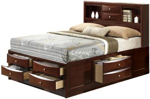 Watson Brown Storage Bed