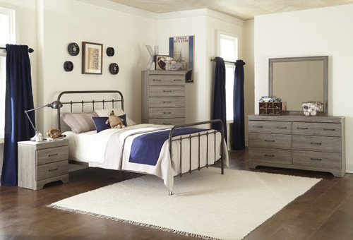 Corville Grey Bedroom Set