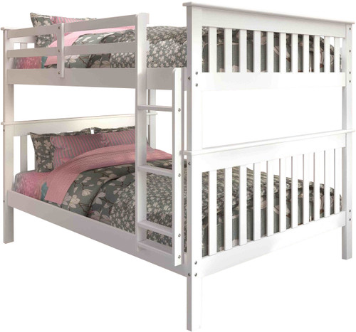 Derik White Full Bunk Bed