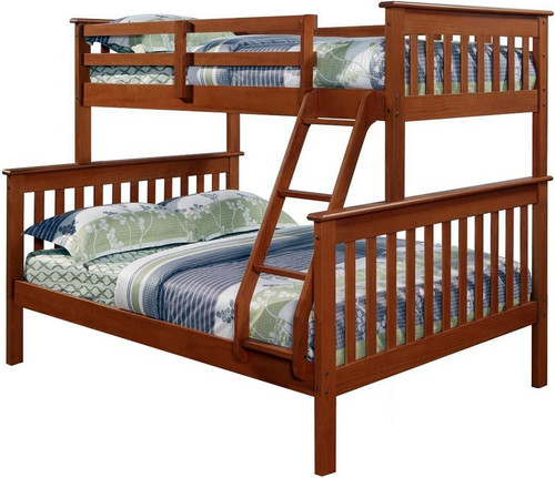 Derik Medium Brown Twin over Full Bunk Bed