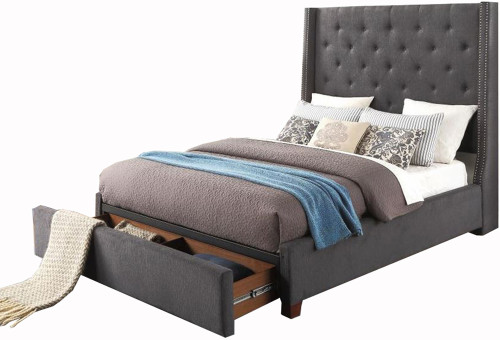 Samara Gray Storage Bed
