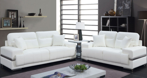 Cyron White Sofa & Loveseat
