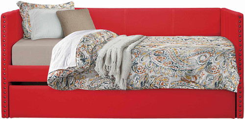 Estelle Red Daybed with Trundle