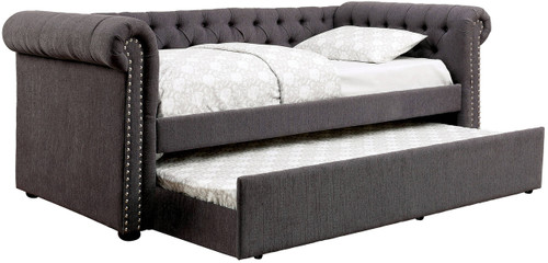 Alexandre Gray Day Bed w/ Trundle