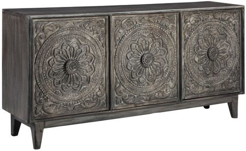 Zinnia Gray Brown Cabinet