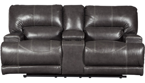 Admiral Top-Grain Leather Reclining Loveseat