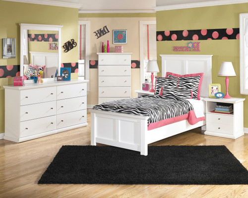 Lucia White Youth Bedroom Set