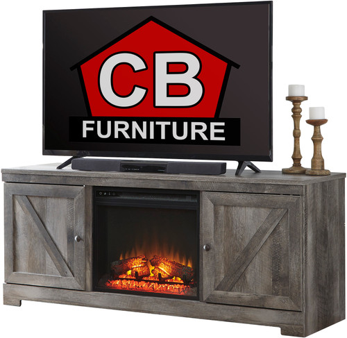 "Dextre 63"" Wide TV Stand with Fireplace"