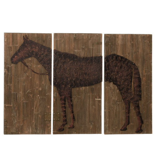 Large 3-PC Horse Wall Decor