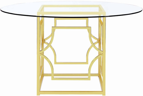 "Collins Gold 54"" Wide Dining Table"