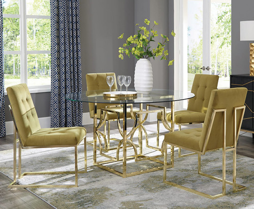 """Collins Gold 54"""" Wide Dining Table"""