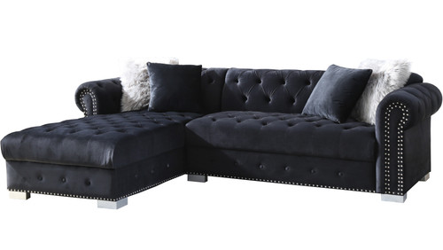 "BLAIR Black 98"" Wide Sectional"