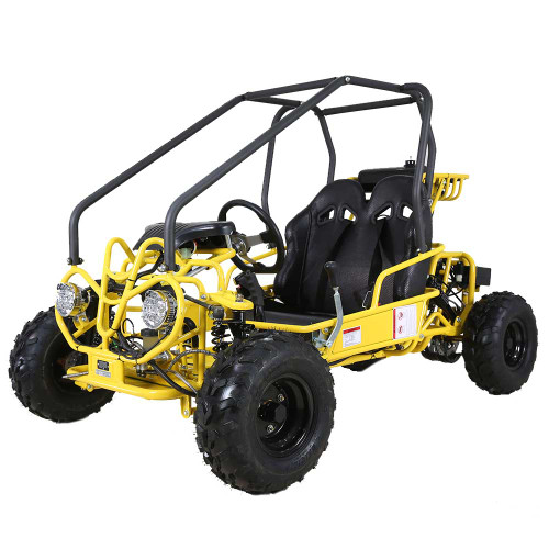 Mini Raptor 110cc Yellow Go Kart