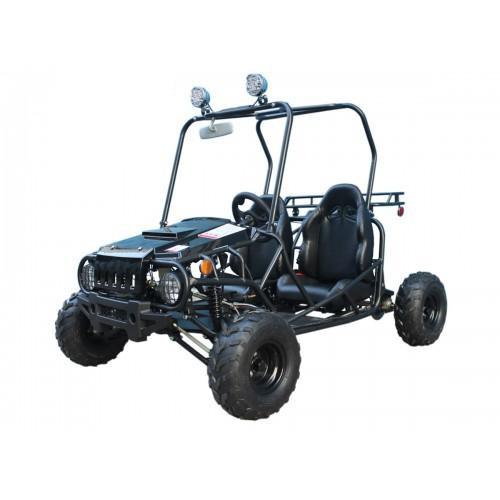 Rhino Black Semi Auto 110cc Go Kart