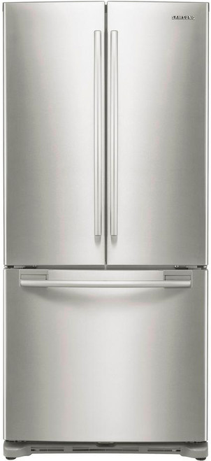 MAZTRA F21 Stainless Steel 18 cu. ft. French Door Refrigerator, Counter Depth