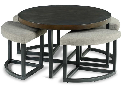 """TAMA 36"""" Wide Coffee Table with Stools"""