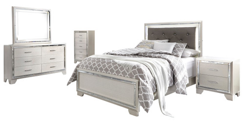 DEISS Silver LED Bedroom Set