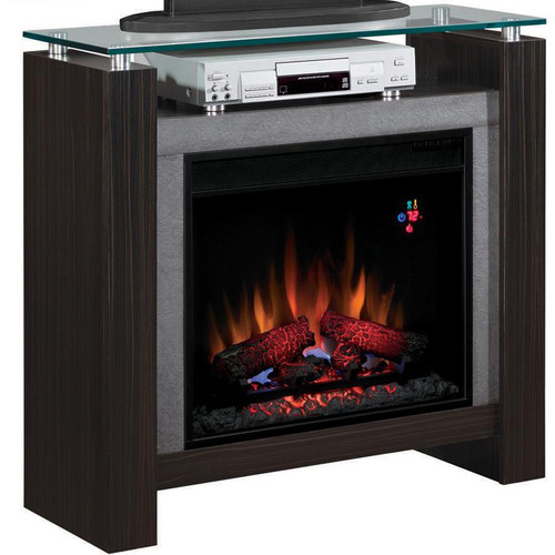 "Halen Black Sandalwood 38.5"" TV Media Fireplace"