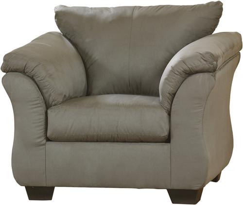 Edeline Gray Plush Chair