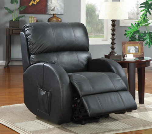 Top-Grain Leather Seat with Leather Match Sides
