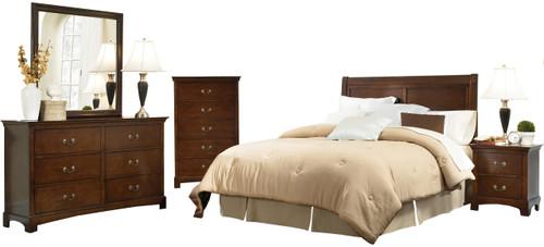 Feline Warm Brown Bedroom Set