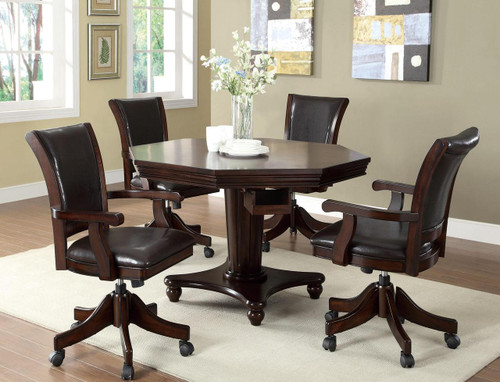 Galen Dark Espresso 3-In-1 Game Table 5pc. Set