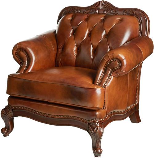 "Gordon 46"" Wide Top Grain Leather Arm Chair"
