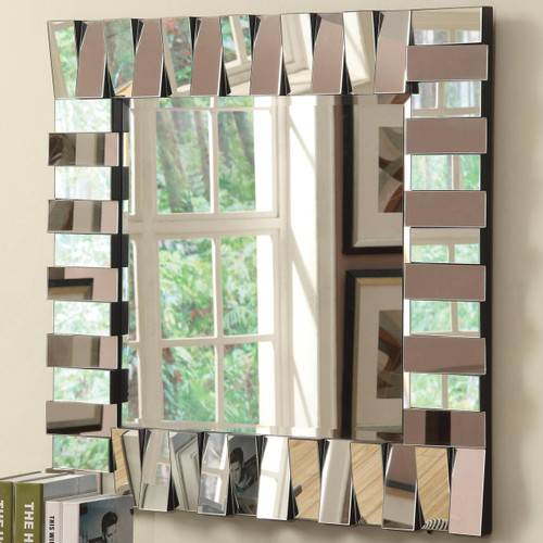 Levers Squared Frameless Wall Mirror