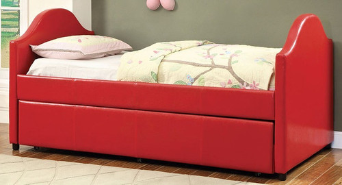 Amara Red Twin Platform Daybed with Trundle