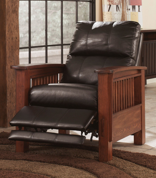 Alrick Chocolate High Leg Recliner