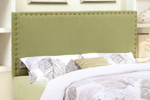 Abner Lime Green Full & Queen Fabric Headboard W/Nailheads