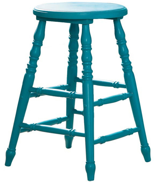 Cottage Beach Teal Bar Stool