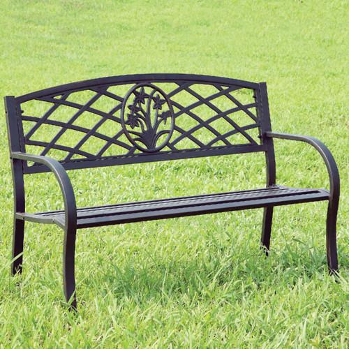 Breeze Black Outdoor Bench