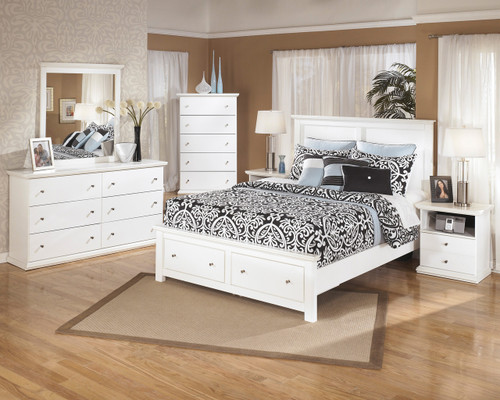 Lucia White Storage Bedroom