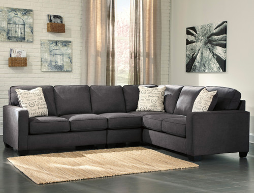 Ceylan Charcoal Large Sectional