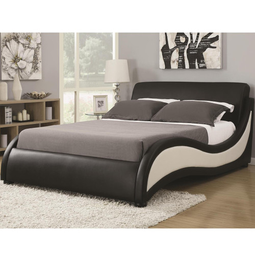 Jayce Black & White Platform Bed