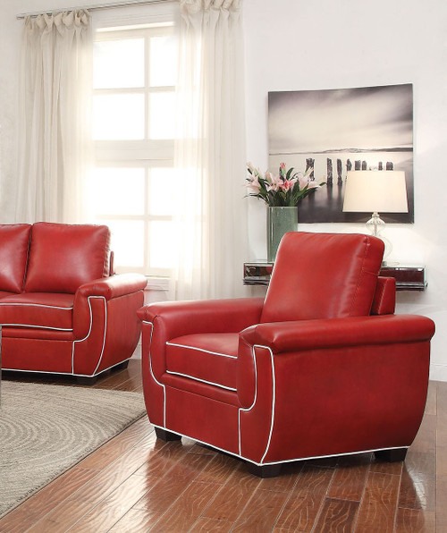 Alexi Chair- Red/White