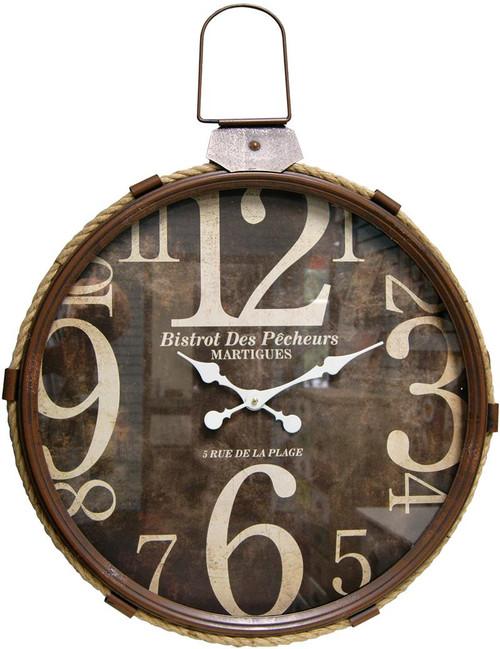 Lasso Brown Wall Clock