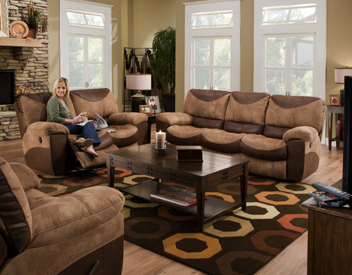 Carter Saddle Reclining Sofa & Loveseat