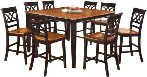 Akima Black 9 Piece Dining Set
