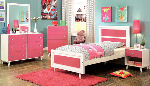 Aarin Pink Bedroom Set