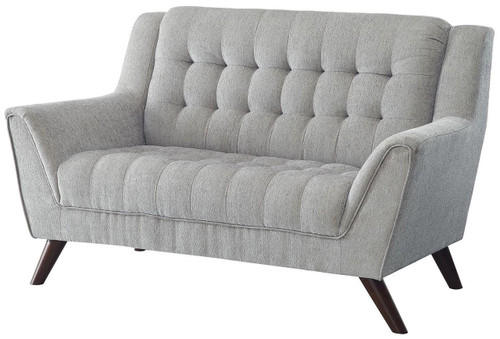 Strange Kimm Light Gray Loveseat Gmtry Best Dining Table And Chair Ideas Images Gmtryco
