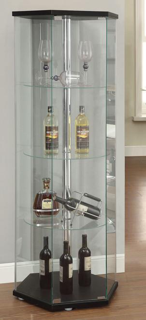 Langport Black Curio Cabinet