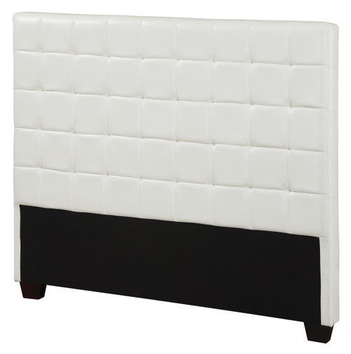 best website 3500a 290a8 Zephyrus White Leather Headboard