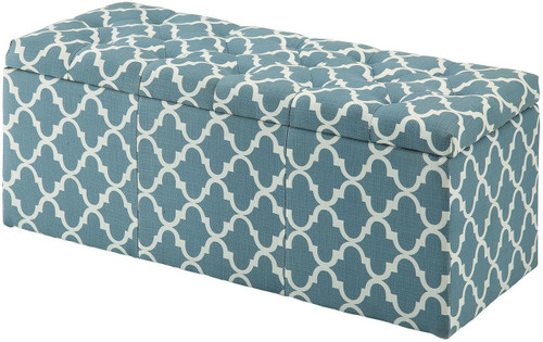 Fusion Blue Storage Bench